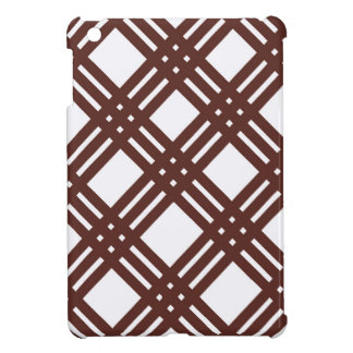 Brown and White Gingham iPad Mini Cover