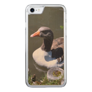 Brown and White Goose Carved iPhone 8/7 Case