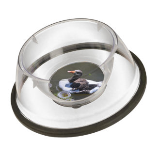 Brown and White Goose Pet Bowl