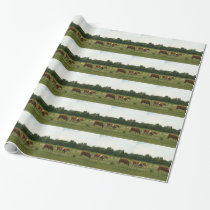 Brown and White Hereford Cattle Wrapping Paper
