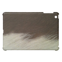 Brown and White Hereford Cowhide Western Cover For The iPad Mini
