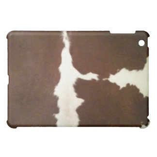 Brown and White Hereford Cowhide Western iPad Mini Cover