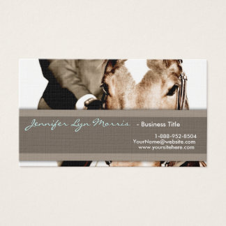 Brown and White Horse Business Card