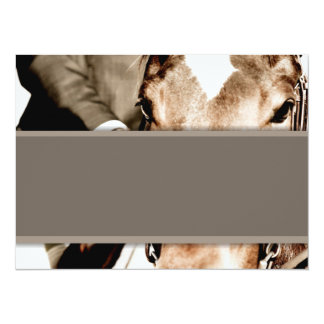 Brown and White Horse Card