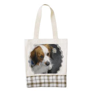 Brown and White  Kooikerhondje Dog Zazzle HEART Tote Bag