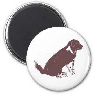 Brown and white newfie refrigerator magnets