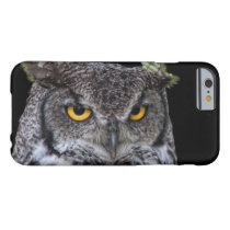 Brown and White Owl with Intense Yellow Eyes Barely There iPhone 6 Case