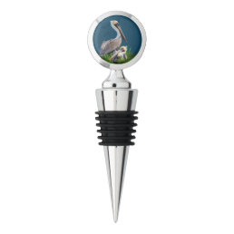 Brown and White Pelicans, Reversible Wine Stopper