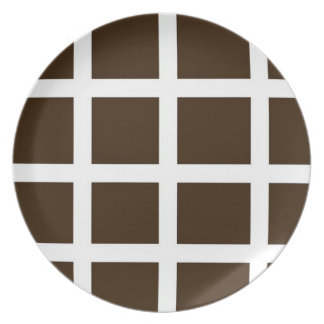 Brown and White Plate