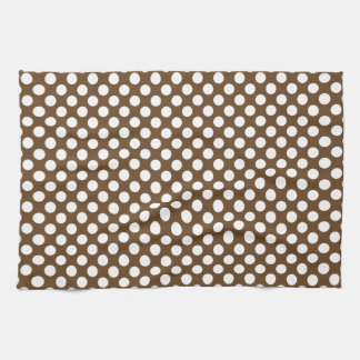 Brown and White Polka Dot Kitchen Towels
