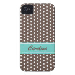 Brown and white polka dots BlackBerry Bold case