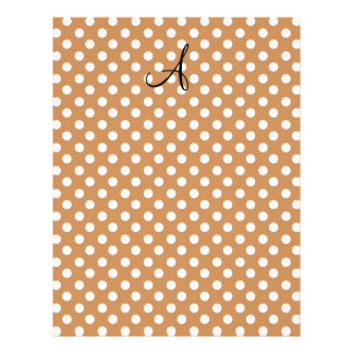 Brown and white polka dots full color flyer