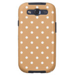 Brown and White Polka Dots Pattern. Galaxy S3 Covers