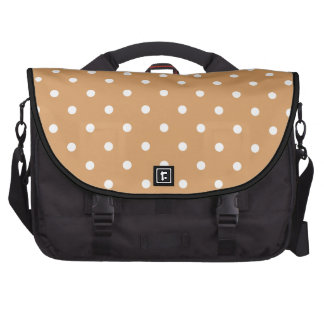 Brown and White Polka Dots Pattern. Commuter Bag