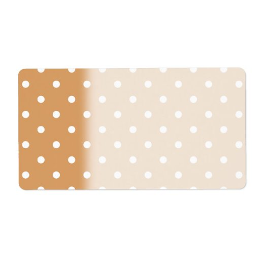 Brown and White Polka Dots Pattern. Shipping Label