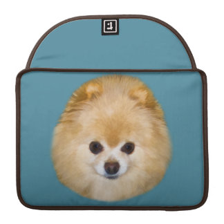 Brown and White Pomeranian Dog Sleeve For MacBooks