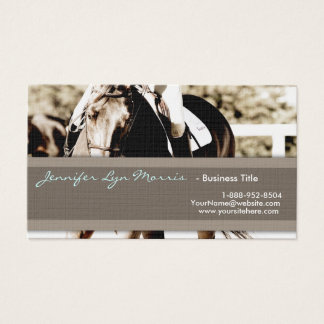 Brown and White Show Horse Business Card