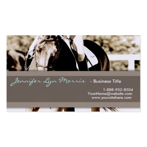 Horse trainer business card templates bizcardstudio for Horse business cards