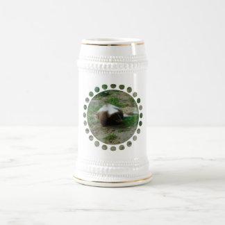 Brown and White Skunk Beer Stein Coffee Mug