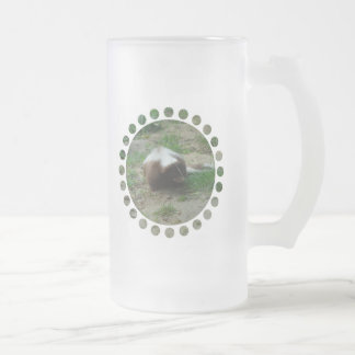 Brown and White Skunk Frosted Beer Mug