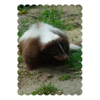 Brown and White Skunk Personalized Invitation