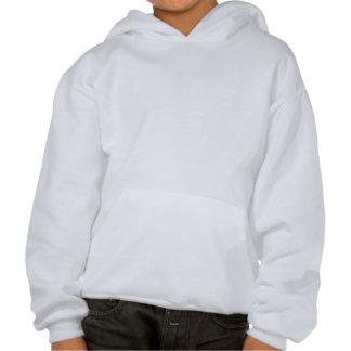 Brown and White Skunk Kid's Hooded Sweatshirt