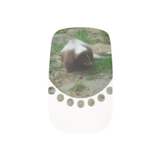 Brown and White Skunk Minx ® Nail Wraps