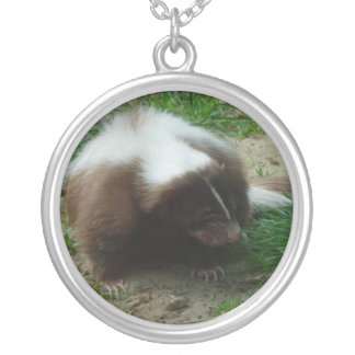 Brown and White Skunk Necklace