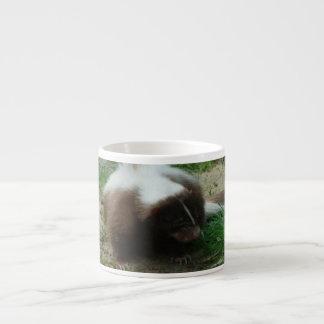 Brown and White Skunk  Specialty Mug Espresso Cup
