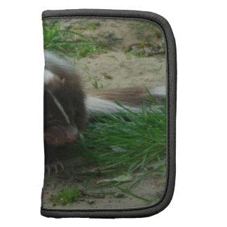 Brown and White Skunk  Wallet Folio Organizer