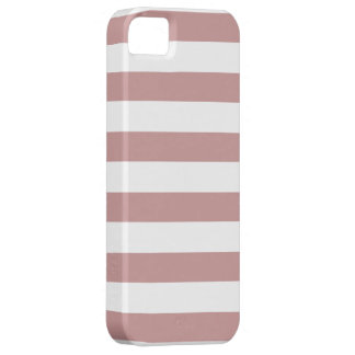 Brown and White Stripe Pattern iPhone SE/5/5s Case