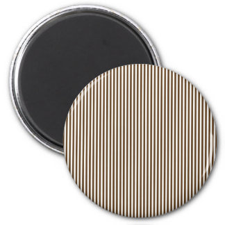 Brown and White Stripes Refrigerator Magnet