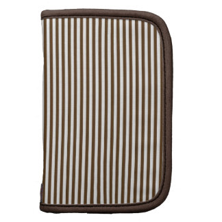Brown and White Stripes Planners