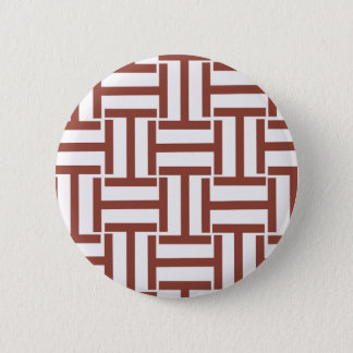 Brown and White T Weave Button