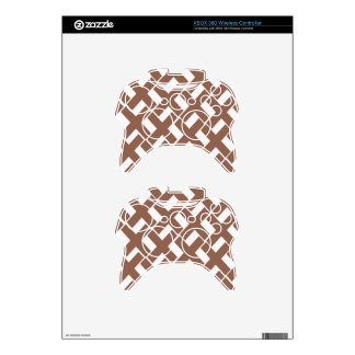 Brown and White Xs Xbox 360 Controller Skins