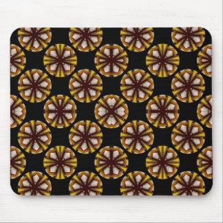 Brown and Yellow Circles Mouse Pad