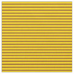 [ Thumbnail: Brown and Yellow Colored Lines Fabric ]