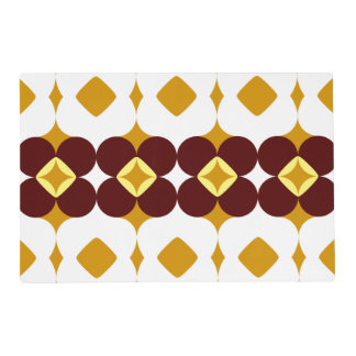 Brown and yellow flowers placemat