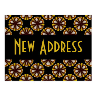 Brown and Yellow New Address Postcard