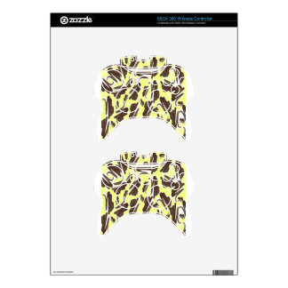 Brown and Yellow Paint Aftermath Xbox 360 Controller Skin
