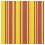 [ Thumbnail: Brown and Yellow Pattern of Stripes Fabric ]