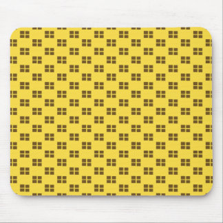 Brown and Yellow Squares Mousepads
