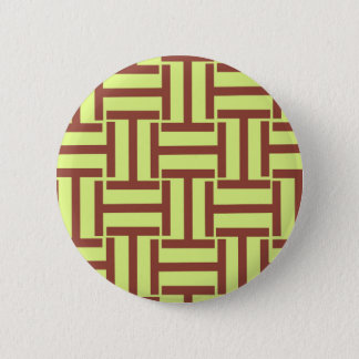 Brown and Yellow T Weave Button