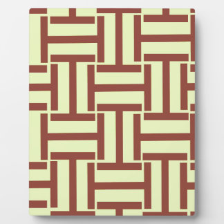 Brown and Yellow T Weave Plaque