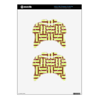 Brown and Yellow T Weave Xbox 360 Controller Skins
