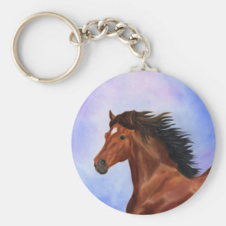 Brown Andalusian horse keychain