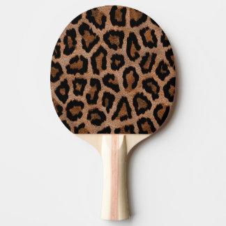 Brown animal print pattern Ping-Pong paddle