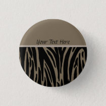 Brown Animal Print Template Button