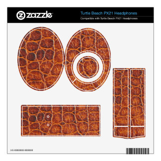 Brown Animal Skin Print Leather Turtle Beach Px21 Skins
