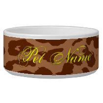 Brown animal skin texture of leopard bowl